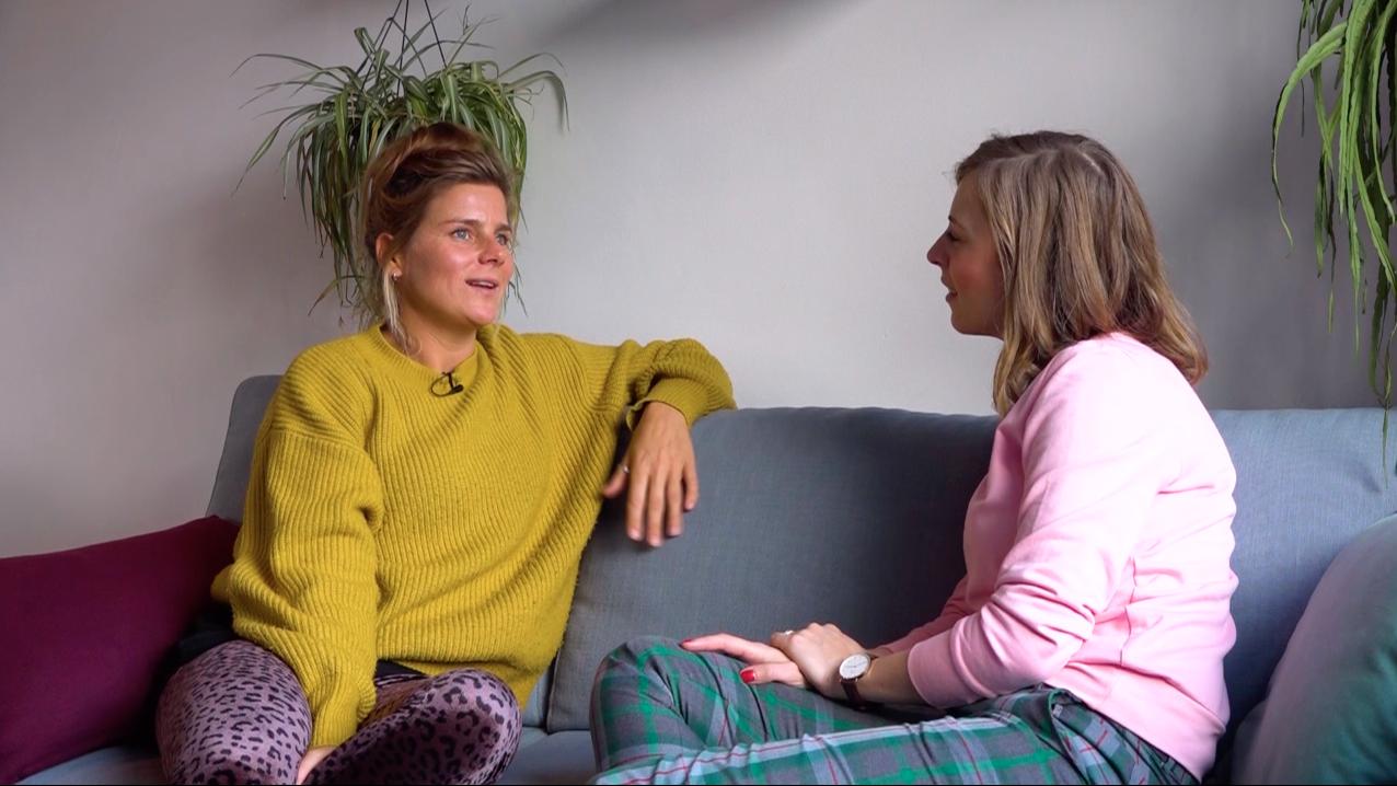 Ciska ging in gesprek met Marij de Vries